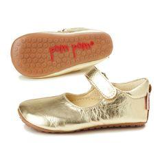 Pom Pom Ballerina / Hausschuh gold