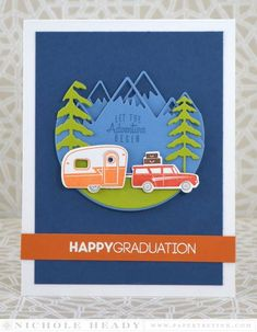 Let the Adventure Begin Grad Card by Nichole Heady for Papertrey Ink (June 2015)