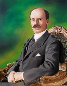 Bethleni gróf Bethlen István, a Magyar Királyság miniszterelnökének portréja 40x50 cm-es olajfestmény