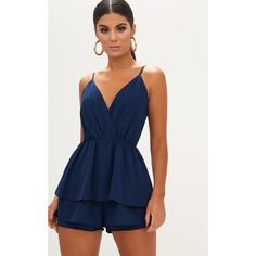 Upgrade your wardrobe with our collection of playsuits. From casual styles to going out playsuits, we've got you covered. Shop all styles at PrettyLittleThing. Mode Outfits, Skirt Outfits, Fashion Outfits, Women's Fashion, Romper Outfit, Playsuit Romper, Ruffle Romper, Diy Vetement, Summer Outfits For Teens