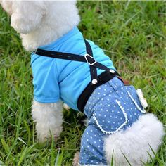 BENMEI 2017 Dog Clothes Newest Jeans Jumpsuit For Dogs Dark And Light Color For Choice Fall Winter Warm Pants Products XS-XL
