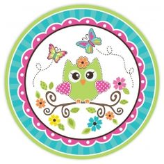 Owl Lunch Plates (8)