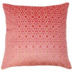 Decorative pillow with luxurious velvet in pink dots.  Plump down/feather insert.  Free shipping.