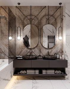 Современный дизайн 3-комнатной для семьи с детьми Washroom Design, Vanity Design, Modern Bathroom Design, Bathroom Interior Design, Interior Decorating, Office Interior Design, Luxury Interior Design, Powder Room Vanity, Dark Bathrooms