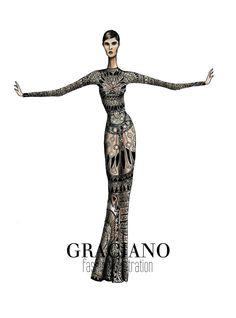 GRACIANO fashion illustration: Tom Ford A/W 2013 #LFW