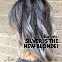 Let us provide the silver lining with a gorgeous silver metallic job well done by our ⚡️⚡️✨masterstylist✨⚡️⚡️ #5wildhairs #thousandoaks #color#ombre #balayage #highlights #hairstyle #hairstylist #instagood #fashion #instadaily #beauty #fashionista #California #streetstyle