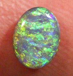 Lightning Ridge Solid Natural Bright Green Semi-Black Opal Stone 0.60ct Gem SBOP2260515 (BOW) - pinned by pin4etsy.com