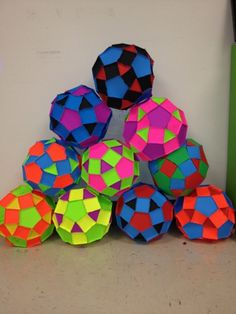 I did this really cool project in high school that I wanted to share with my kids. We built rhombicosidodecahedrons. It's not super math...