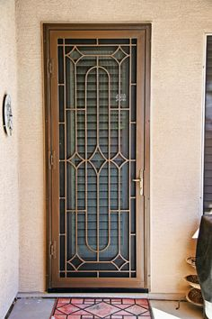 Trilogy Style Door - First Impression Ironworks Home Window Grill Design, Grill Gate Design, Window Grill Design Modern, Steel Gate Design, Balcony Railing Design, House Gate Design, Door Gate Design, Door Design Interior, Iron Window Grill