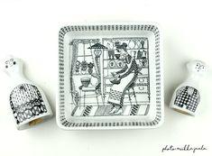 Arabia Emilia, malli BA:n vihannesastia. Vierellä norjalaiset Porsgrund Madame-sirottimet 1960-luvulta. Malli, Kitchenware, House Design, China, Ceramics, Vintage, Decoration, Home Decor, Creativity