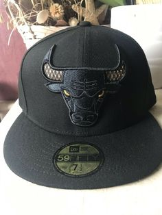 5e7544fbc6b CHICAGO BULLS Gold Horns NBA New Era 59Fifty Fitted Cap Hat Size 7 1 2   fashion  clothing  shoes  accessories  mensaccessories  hats (ebay link)