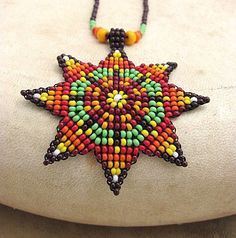 Hey, I found this really awesome Etsy listing at… Seed Bead Patterns, Loom Patterns, Beading Patterns, Native American Beading, Beaded Ornaments, Beads And Wire, Beading Tutorials, Loom Beading, Bead Crafts