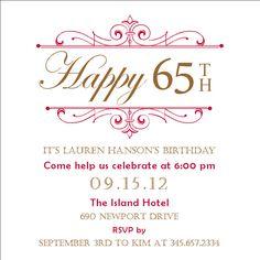 Sophisticated Birthday Invitation. $8.00, via Etsy.