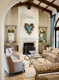 #HomeOwnerBuff White living room with a nice fireplaces