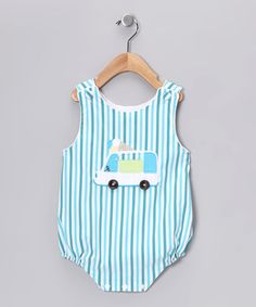 Take a look at this Aqua Stripe Bubble Bodysuit - Infant by Beehave on #zulily today!
