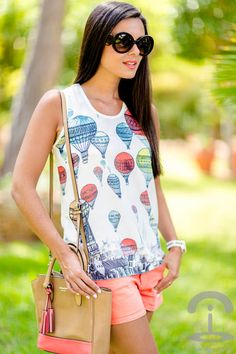 Balloons Top by Crimenes De La Moda... cute for the end of summer......(USA)  HotWomensClothes.com