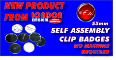 """Our new product """"Self Assembly Clip Badges!"""""""