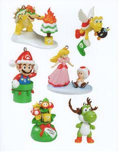 Christmas themed Mario ornaments..cute!
