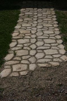 How to build a faux stone walkway for under $40   Oh ya!   Diggin this one!