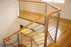 Stainless Steel Rod Balustrade:-Stainless steel double flat bar posts with pin & OD top rail with OD horizontal rod infills. Stainless Steel Balustrade, Stainless Steel Rod, Metal Working, Storage, Furniture, Home Decor, Purse Storage, Decoration Home, Metalworking