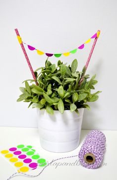 dot sticker garland