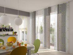 panneau japonais blanc-gris-salle-manger-chaises-design