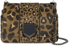 Jimmy Choo Leopard Print petite Lockett shoulder bag