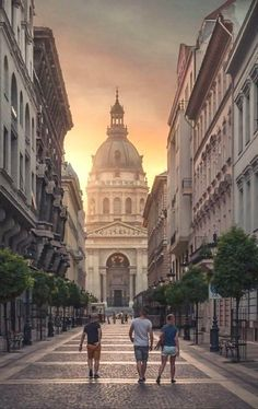 The St Stephen's Basilica in Budapest, Hungary.
