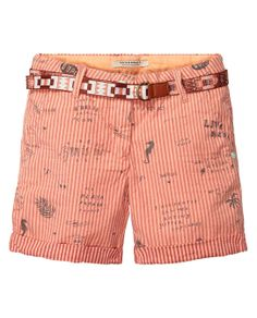 allover printed chino shorts| Short pants | Girls Clothing at Scotch & Soda