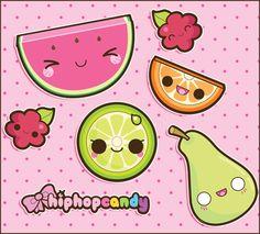 Kawaii Summer Fruits by ~A-Little-Kitty on deviantART
