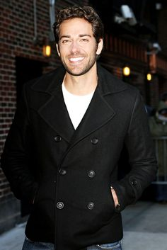 Zachary Levi: The perfect man. In that jacket...I can't handle this