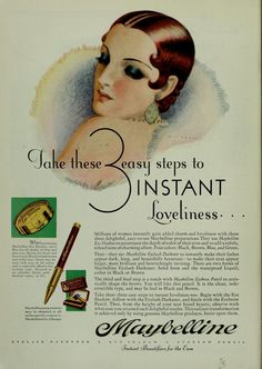 1920s Maybelline vintage-advertising They still make this today, but it looks way different!
