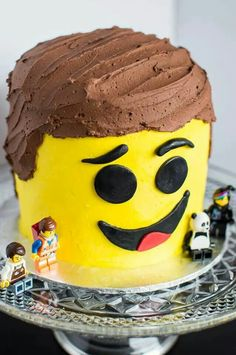 Emmet Cake from The Lego Movie!! Carmen's Sweet Creations made with all buttercream