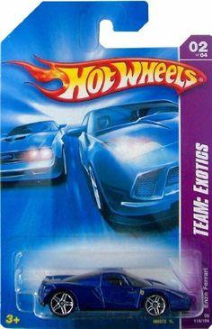 Mattel Hot Wheels 2008 1:64 Scale Team Exotics Blue Enzo Ferrari Die Cast Car…