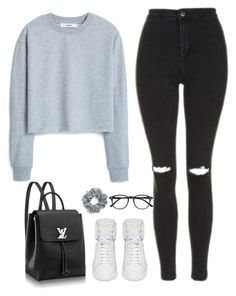 """Untitled #77"" by simonakolevaa ❤ liked on Polyvore featuring Topshop, MANGO, Yves Saint Laurent, Natasha Couture and Illesteva"
