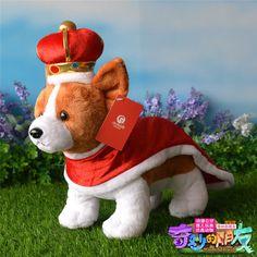 "Britain's Royal crown corgi plush toys stuffed dog children gift 13"" #unbranded"