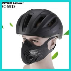 BaseCamp 3.0 Half Face Cycling Mask With Filter 3 Colors Carbon Bicycle Bike Training Mask Mascarilla Polvo Mascaras Ciclismo