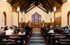 Love this photo inside of the church prior to the  Fox/Blackwelder Wedding! Photo Credit: Emma Loo Photography