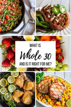 If you have questions about what the program this is the place for you. We'll talk about the basics of what is and if it is right for you! Whole 30 Crockpot Recipes, Whole 30 Chicken Recipes, Whole 30 Recipes, Veggie Recipes, Vegetarian Recipes, Easy Recipes, Whole 30 Salads, Whole 30 Diet, Paleo Whole 30