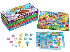 """Students master essential phonics skills�as they race to a medieval castle collecting long vowel sounds, cross a treacherous ravine using blends and digraphs, speed through a harbor in search of short vowels, and more! Complete library includes all 4 games shown, each with an 18"""" x 18"""" game board. For 2-4 players. Each game also available separately below. Math Card Games, Fun Math Games, Vocabulary Games, Phonics Activities, Word Games, Candyland Board Game, Candyland Games, Payday Game, Sequence Game"""