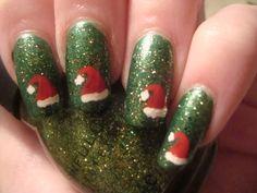 Nail Art - Santa Hat