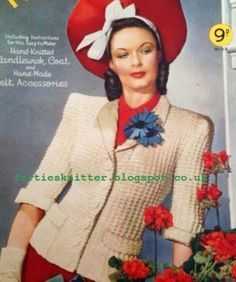 The Vintage Pattern Files: 1940's Knitting - Candlewick Coat
