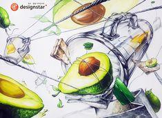 여수 광양 디자인스타 기초디자인(유리컵, 아보카도, 녹차티백) 수업작 #기초디자인 #유리컵 #아보카도 #녹차티백   유리컵개체묘사 아보카도개체묘사 녹차티백개체묘사 Watercolor Food, Still Life, Fruit, Anime, Painting, Marker, Creation Coloring Pages, The Creation, Pictures