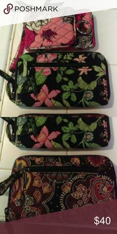 Vera Bradley Wallets Very good conditions selling all together really good deal Vera Bradley Bags Clutches & Wristlets