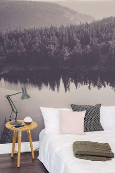 Charcoal Lake Scene Landscape Mural - http://centophobe.com/charcoal-lake-scene-landscape-mural/ -