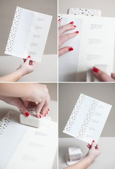 How to easily create a matching Invitation and label set using a craft punch - perfect for Save-the-Dates, Valentines, or stationary! #12MonthsofMartha #DIYwedding