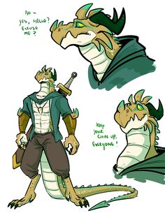 His name is Mike Fantasy Character Design, Character Design Inspiration, Character Concept, Character Art, Dungeons And Dragons Characters, Dnd Characters, Fantasy Characters, Fantasy Dragon, Dragon Art