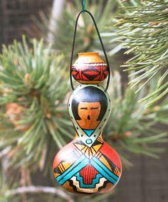 Southwestern Handpainted Bottle Gourd by AChristmasbyCarol on Etsy, $22.00