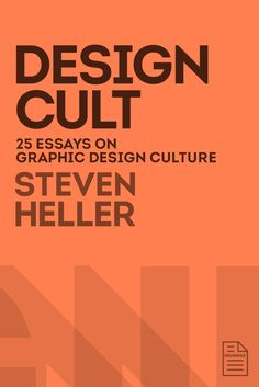 Renowned designer, author, critic, co-chair of SVA's MFA program in design and National Design Award recipient Steven Heller reaches into the most contemplative recesses of his mind to offer an entertaining new collection of ruminations on the nature and future of design. In Design Cult the first of a series of three titles published exclusively as e-books through the DesignFile consortiumHeller expounds on such disparate topics as Milton Glaser, Japanese masks, velvet touch lettering…