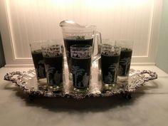 Jeannette Green Hellenic Set of 8 Iced Tea by PurpleIrisVintage, $48.00